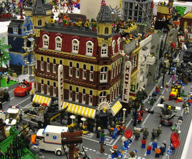 City lego a roma la pi grande citt al mondo costruita for Case lego city