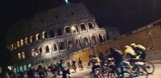 pedalata di luna piena roma